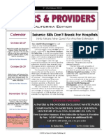 Payers & Providers – Issue of October 21, 2010
