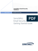 SonicWALL Email Security 6.0 8000 Getting Started Guide