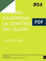 Antonio Gamoneda, La Construcción Del Olvido