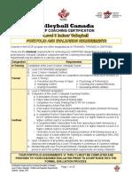 Level 3 - Indoor Portfolio and Evaluation Requirements