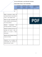 Escala de Evaluación Para La Lectura de Cuentos