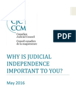 Why is Judicial Independence Important to You