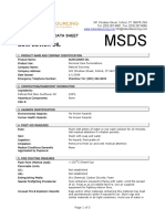 MSDS Sunflower Oil