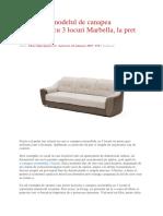 Descopera Modelul de Canapea Extensibila Cu 3 Locuri Marbella