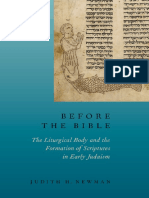 Before the Bible the Liturgica - Judith H. Newman