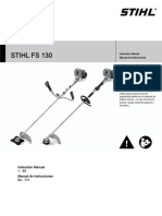 Stihl Fs 130 Owners Instruction Manual