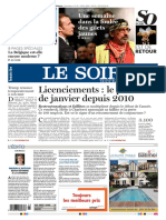Journal LE SOIR Du 26 Janvier