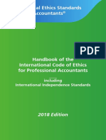 (1) IESBA Handbook Code of Ethics 2018