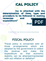 Fiscal Policy (BE)