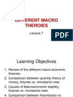 Different Economic Theories(Lecture 7)