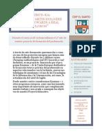 Boletín informativo proyecto Erasmus+KA1