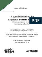 Libro Accesibilidad en Los Espacios Patrimoniales