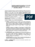 MIDIS Convenio de Gestion Pca 2018