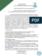 Edital Prograd n 10-2019 - Resultado Preliminar Complementar - Transf. Refugiados Portador