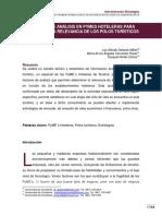 FACTORES DE ANÁLISIS EN PYMES HOTELERAS PARA DETERMINAR LA RELEVANCIA DE LOS POLOS TURÍSTICOS