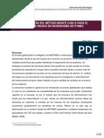 IMPLEMENTACIÓN DEL MÉTODO MONTE CARLO PARA EL ANÁLISIS DE RIESGO EN INVERSIONES DE PYMES