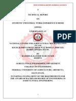 BAMIDELE, K.B. Technical Report