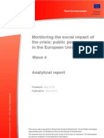 Monitoring the Social Impact of the Crisis- Public Perceptions in the European Union