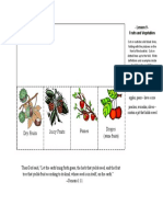 types of fruits flap booklet