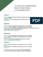 Planning Settimanale I STAGE IVAN FEDELE