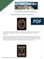 Respuesta a La Lectura de Runas Vikingas Agosto 13 2018 Rox