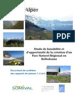 Synthese Etude de Faisabilite PNR Belledonne 2013