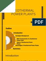 Geothermal power plants