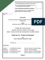 Mémoire_2010 Etude Des Interactions Maître d'Œuvre-maître d'Ouvrage