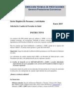 Solicitud de Cambio de Prestador de Salud 2019 003