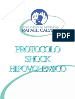 Protocolo Shock Hipovolemico