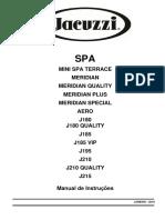 Manual de Instrucoes Spas Nacionais - JACCUZZI