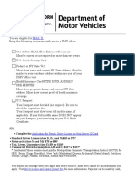 DMV Documentguide Checklist