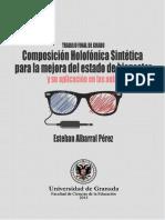 Composición Holofónica Sintética para la mejora del estado de bienestar y su aplicación en las aulas, Albarral Pérez, Esteban.pdf