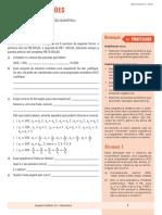 Álgebra e Funções - SD23 - Progressão Geométrica PROFESSOR
