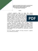 Analisis Pengaruh Manajemen Pengetahuan (Knowledge Management) Dan Pengalaman Kerja Terhadap Produktivitas Kerja Karyawan (Abstract)