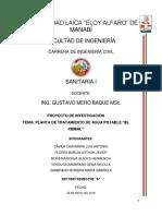 PROYECTO INVESTIGATIVO EL CEIBAL SANITARIA I