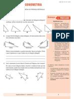 Geometria - SD11 - Trigonometria No Triângulo Retângulo PROFESSOR