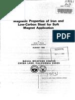 Propieades Magnéticas Del Hierro