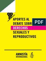 Aportes al debate sobre derechos sexuales y reproductivos