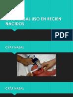 Cpap Nasal Uso en Recien Nacidos