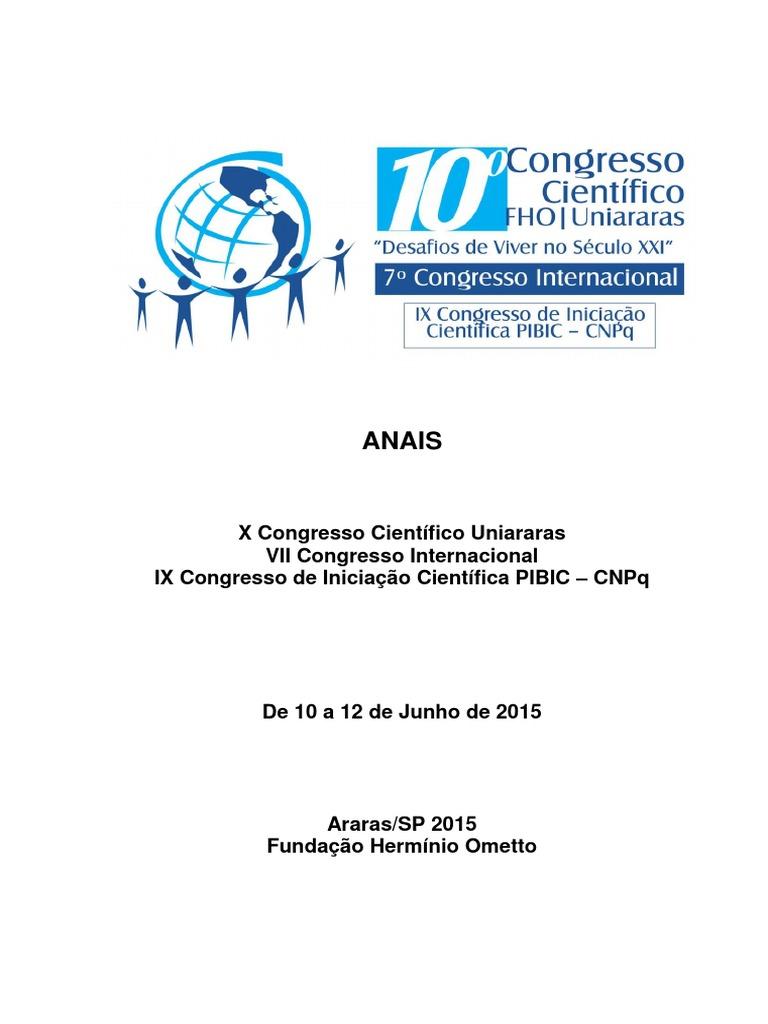937f3b7f7b X Congresso Científico Uniararas - 2015 | Plantas | Terra