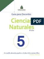 5° Guía del  Docente CCNN
