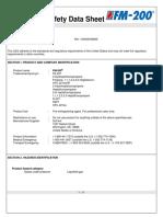 Dupont Fm-200 Safety Data Sheet