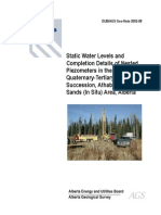 Static Water Levels and Completion Details of Nested Piezometers in the Quaternary-Tertiary(?) Succession, Athabasca Oil Sands (In Situ) Area, Alberta - GEO 2002 08
