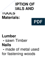 Description of Materials and Tools-Activity Print