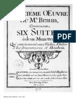 Braun - 6 Suites à Deux Muzettes