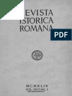 Revista istorică română, vol. 14, fasc. 1, 1944