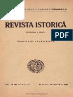 Revista istorică - dări de seamă, documente şi notiţe, 32, nr. 01-12, ianuarie - decembrie 1946