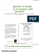 Temps Verbaux Conjugaison Grammaire Nufi