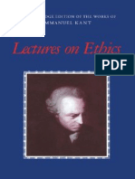 Immanuel Kant-Lectures on Ethics (the Cambridge Edition of the Works of Immanuel Kant in Translation) -Cambridge University Press (1997)